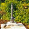 Gartenbrunnen und Messing-Auslauf