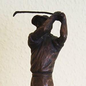 Golfer aus Bronzeguss