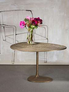 Loungetisch-Albeo-III flower aus Messing